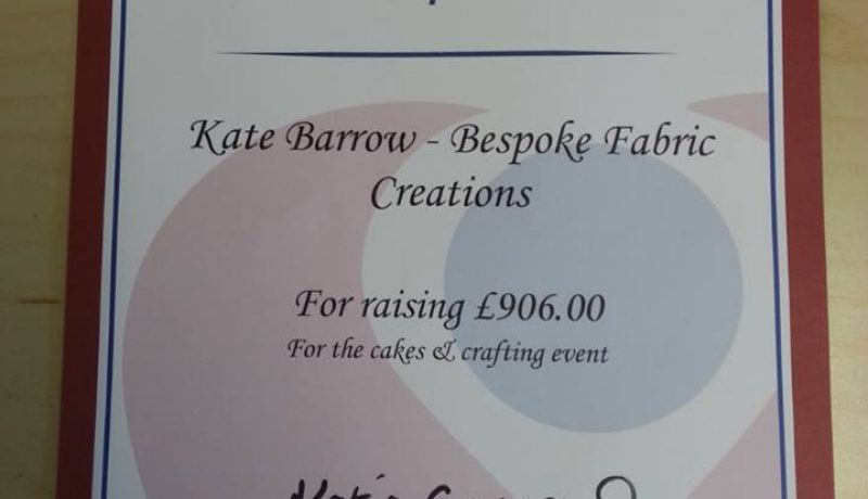 Kate Barrow raises £906 for The Christie