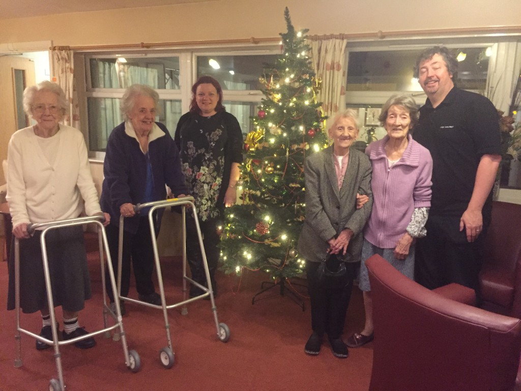 Bernadette and Andrew with some happy Wellcroft residents