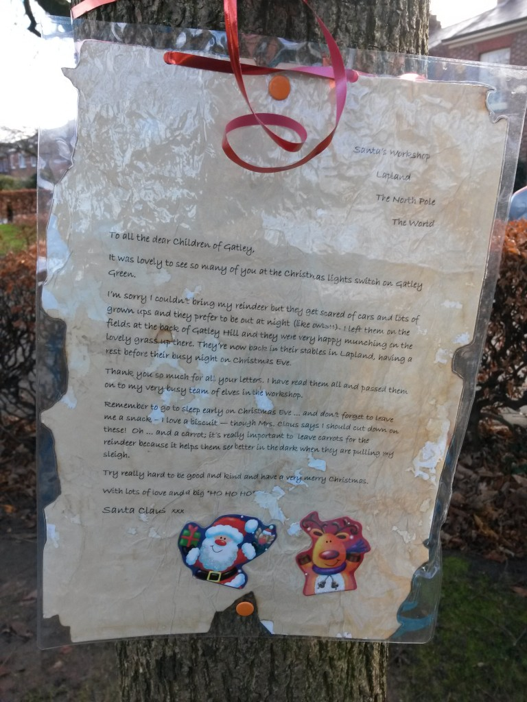 Santa's letter to Gatley children